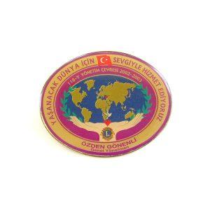 2002-2003 Lions Rozet Metal Objeler Lapel Badge