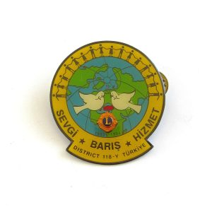 1993-1994 Lions Rozet Metal Objeler Lapel Badge