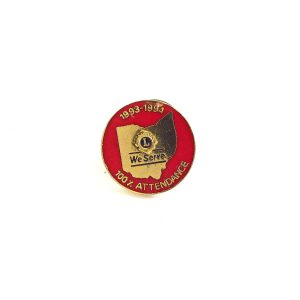 1993-1994 Lions Rozet Metal Objeler Lapel Badge