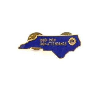 1989-1990 Lions Rozet Metal Objeler Lapel Badge