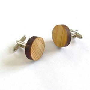 Bambu Kol Düğmeleri Metal Objeler Bambu