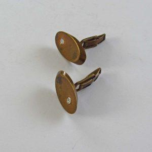 Pirinç Kol Düğmeleri Metal Objeler Kol Düğmesi