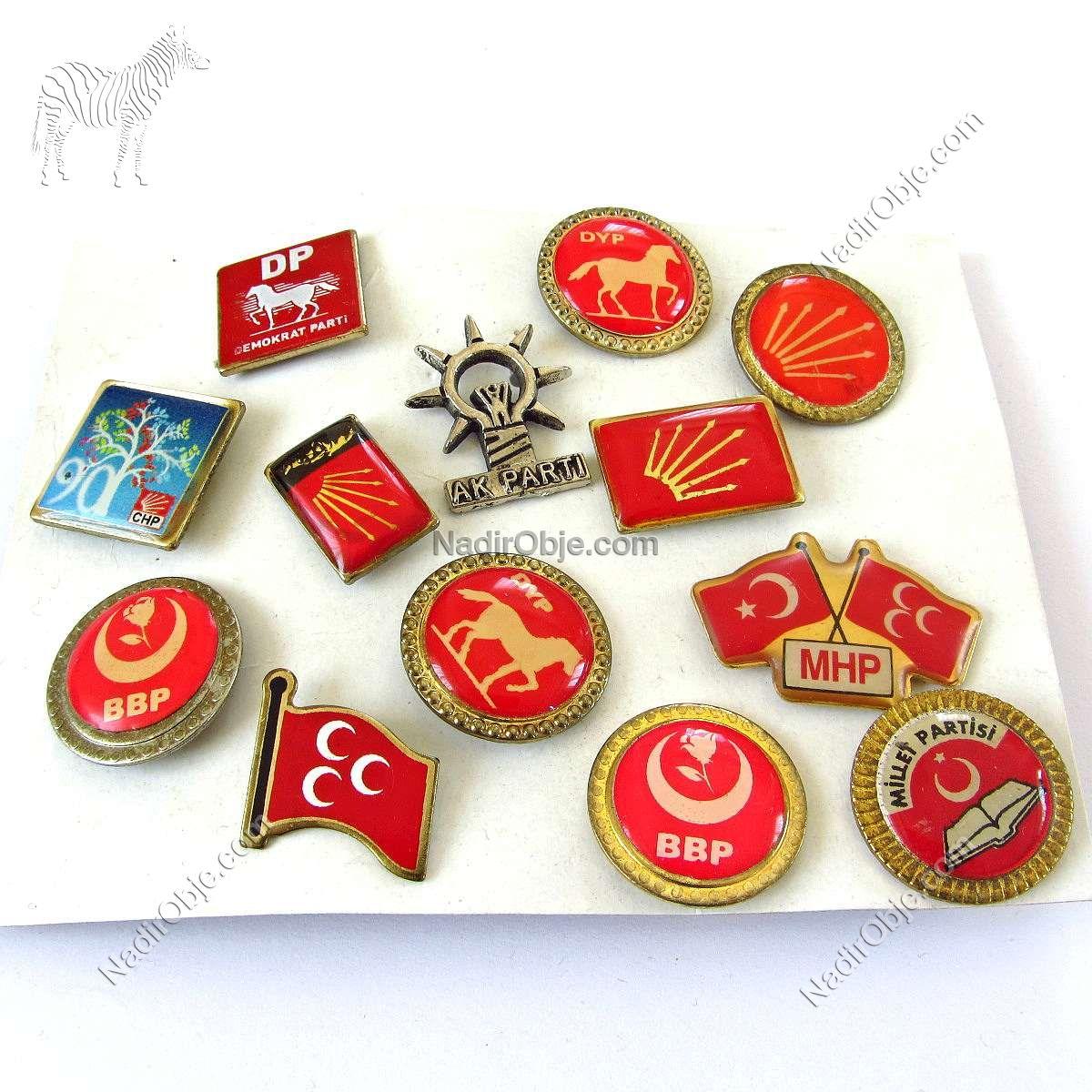 Siyasi Parti Rozetleri Metal Objeler Lapel Badge