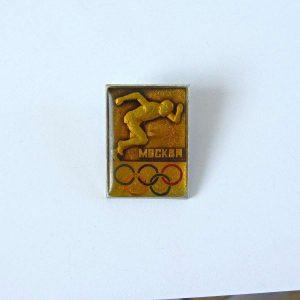 Moskova Olimpiyat Rozeti Metal Objeler Lapel Badge