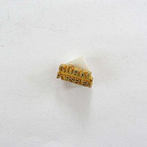 Güral Porselen Rozet Metal Objeler Lapel Badge