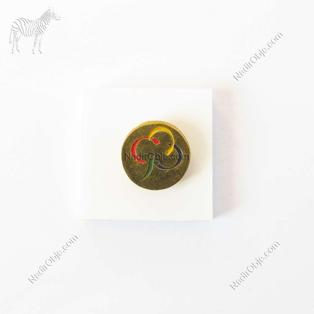 4 Renkli Rozet Metal Objeler Lapel Badge