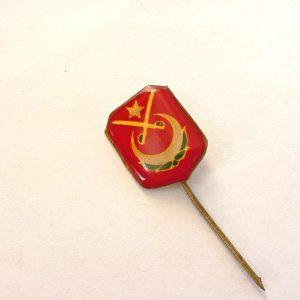 Eski Muharipler Rozet Metal Objeler Lapel Badge