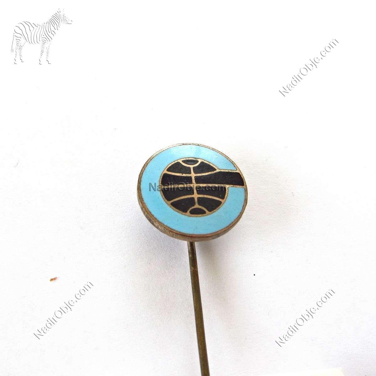 Basketbol Temalı Rozet Metal Objeler Basketbol