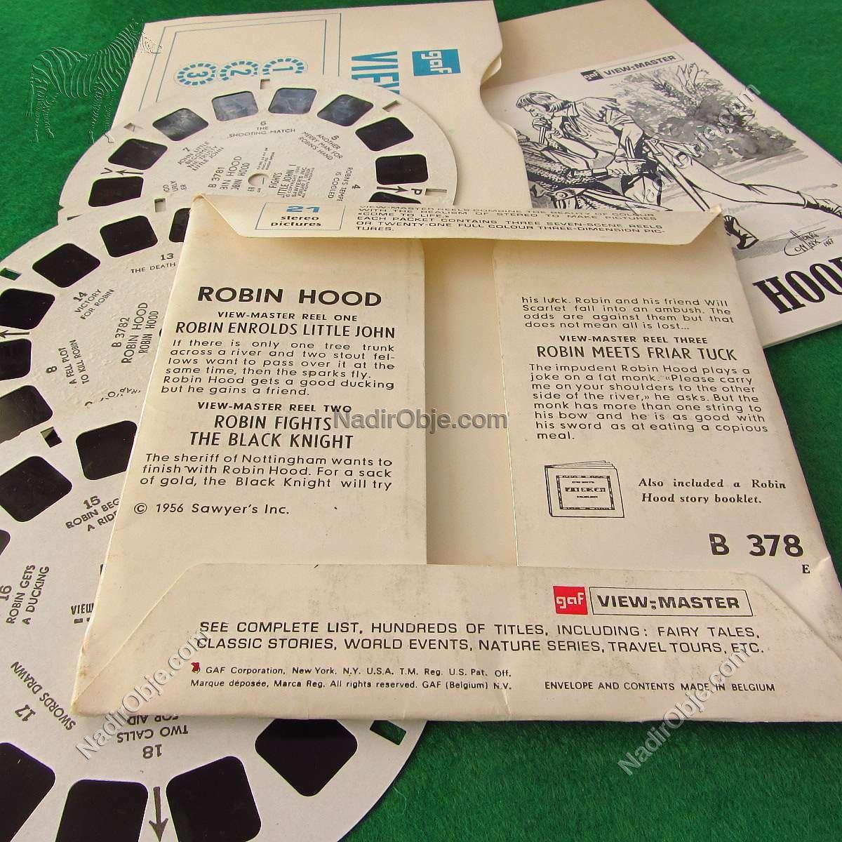 Robin Hood View-Master Film Diğer Objeler 3Boyutlu