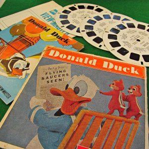 Donald Duck View-Master Film Diğer Objeler 3Boyutlu