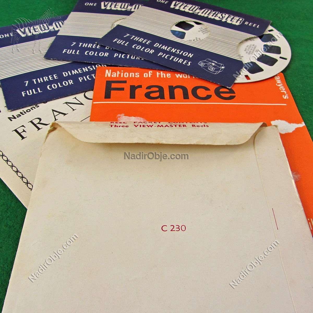 France View-Master Film Diğer Objeler 3Boyutlu