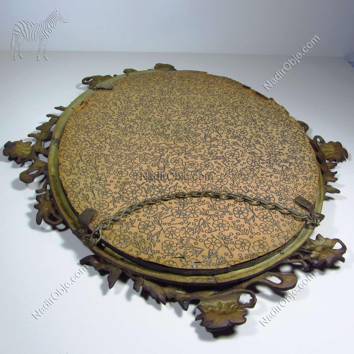 Pirinç Ayna Cam-Taş Objeler Ayna