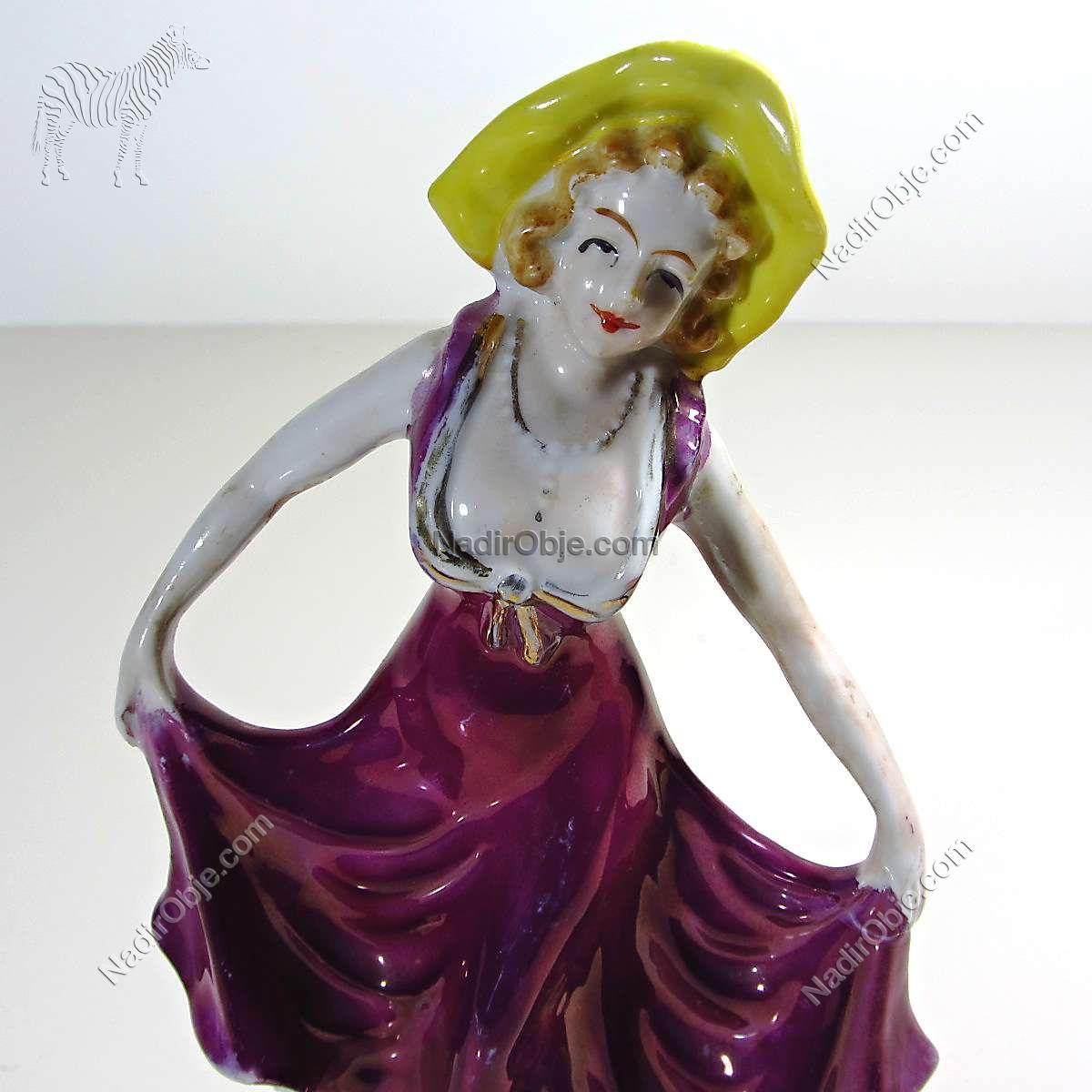 Rococo Porselen Dansçı Figürü Seramik-Porselen Objeler Biblo