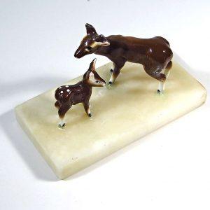 Porselen Ceylan Figürü Cam-Taş Objeler Ceylan
