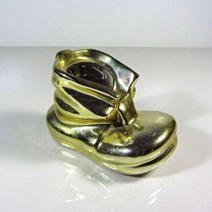 Altın Renkli Porselen Küllük Seramik-Porselen Objeler Ayakkabı