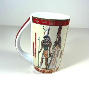 Mısır Temalı Porselen Kupa Seramik-Porselen Objeler Bardak