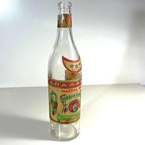 1863 Yılı Şarap Şişesi Cam-Taş Objeler Şarap