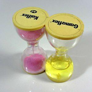 İlaç Promosyonu Kum Saati Plastik-Polyester Objeler Eczacılık