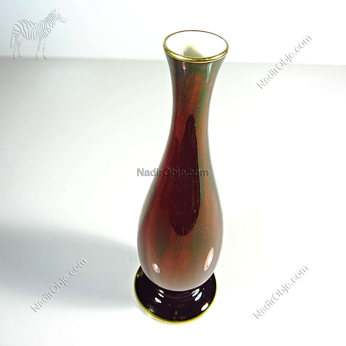 İngiliz Carlton Ware Porselen Karanfillik Seramik-Porselen Objeler Elişi