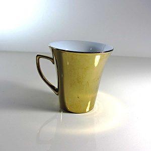 Altın Rengi Porselen Kupa Seramik-Porselen Objeler Bardak