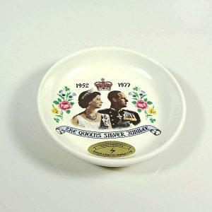 Kraliçe Elizabeth 1977 Hatıra Tabak Seramik-Porselen Objeler Hatıra