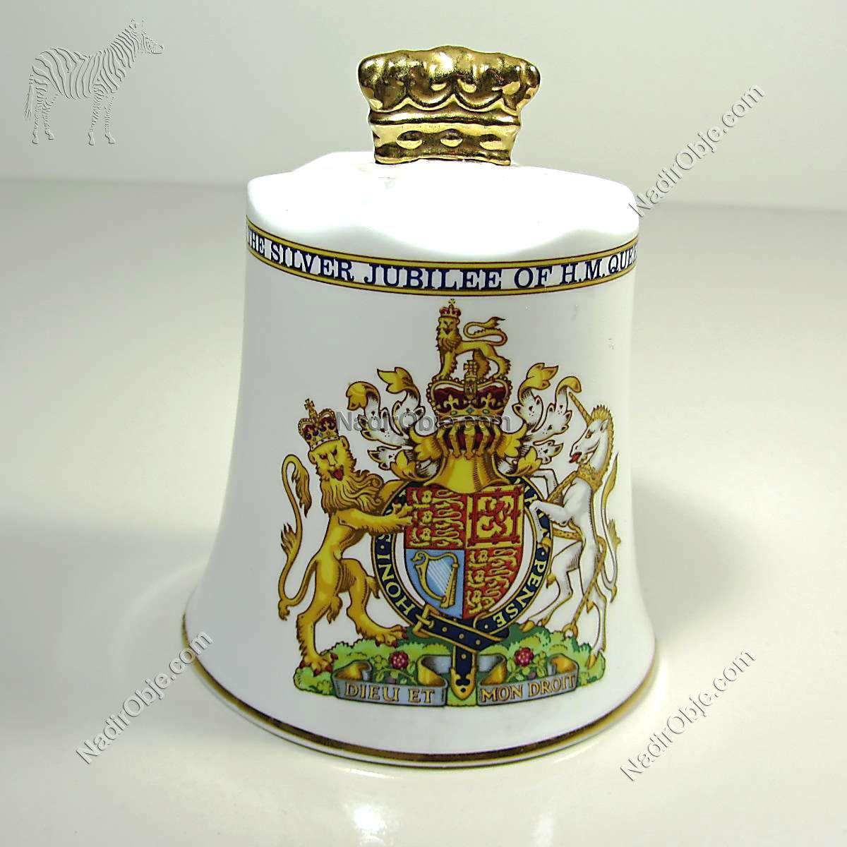 Kraliçe Elizabeth 1977 Hatırası Çan Seramik-Porselen Objeler Çan