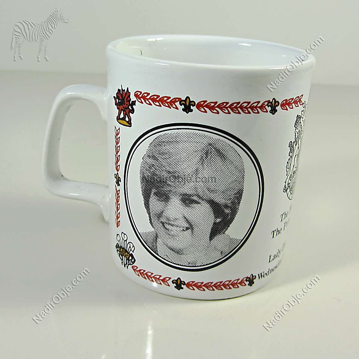 Prenses Diana & Prens Charles Düğün Hatırası Kupa Seramik-Porselen Objeler Bardak