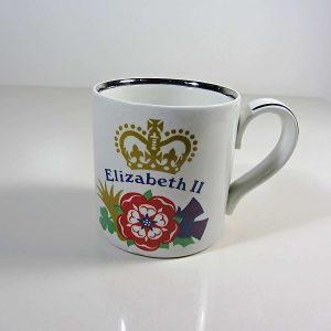 Elizabeth II 1977 Yılı Hatıra Kupa Seramik-Porselen Objeler Bardak