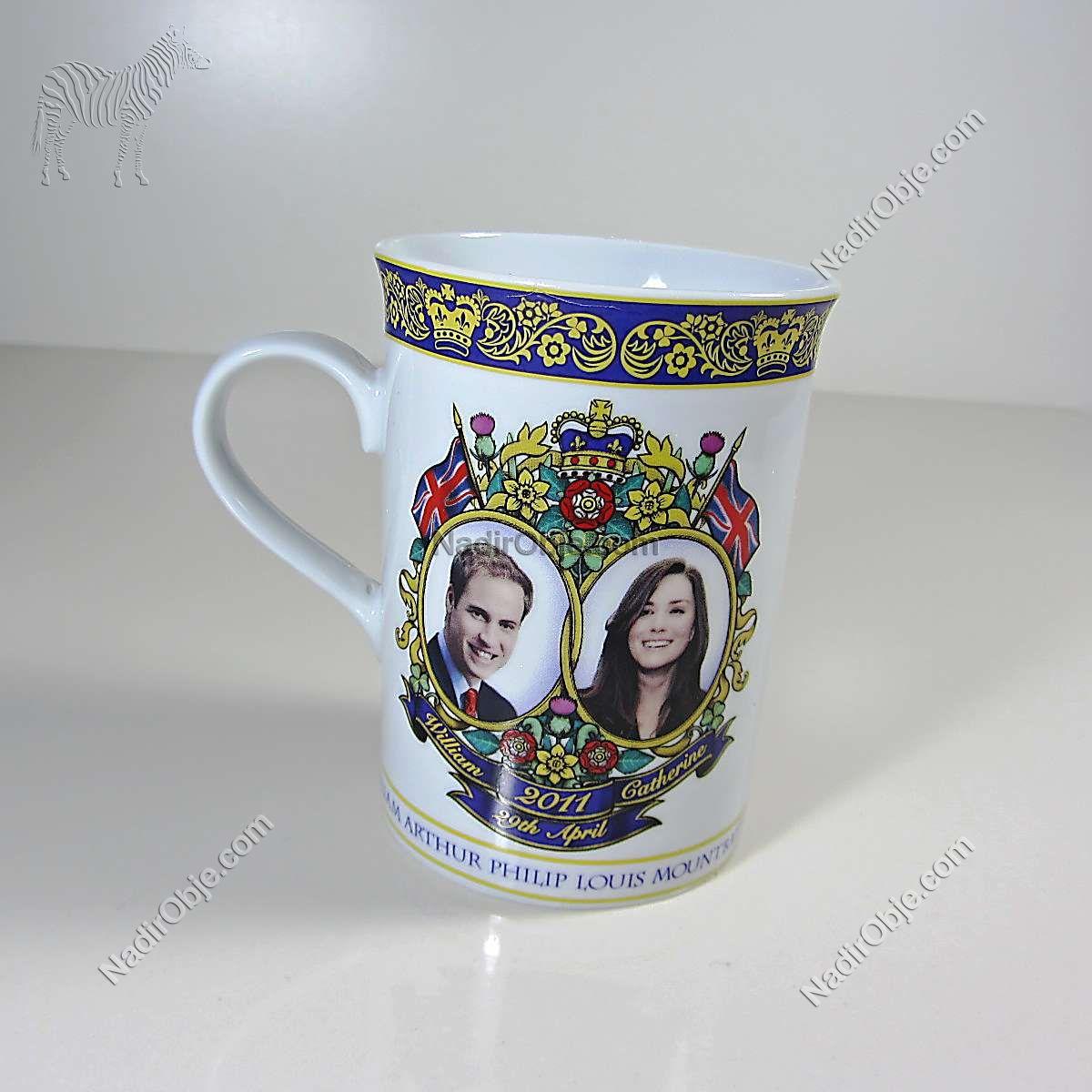 2011 İngililtere Kraliyet Düğün Hatırası Kupa Seramik-Porselen Objeler Bardak