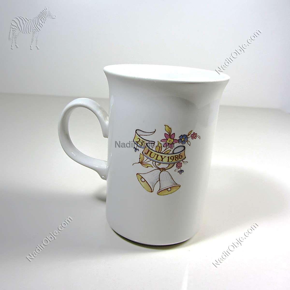 1988 İngiltere Kraliyet Düğün Hatırası Kupa Seramik-Porselen Objeler Bardak